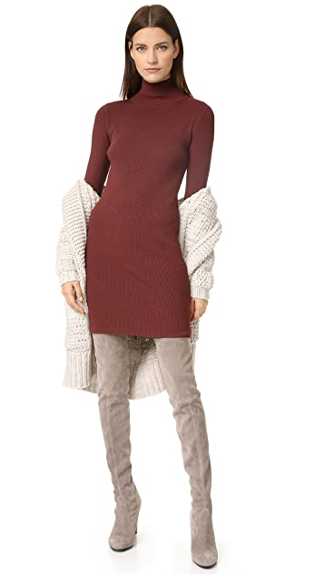 525 America Ribbed Turtleneck Dress