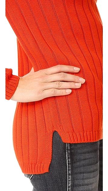 525 America Panel Rib Crew Neck Sweater