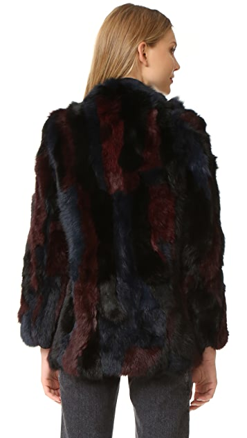 525 America Rabbit Fur Jacket