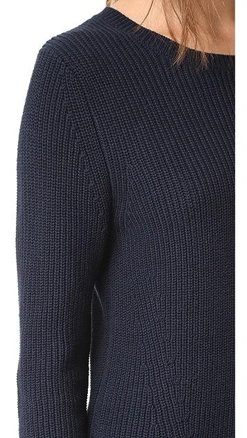 525 America Платье-свитер с округлым вырезом