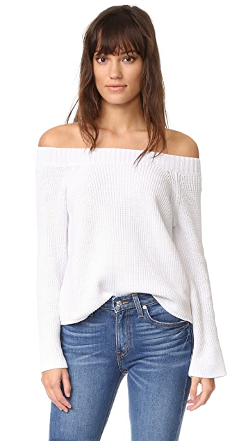 f4bb9caf20 525 America Off the Shoulder Sweater