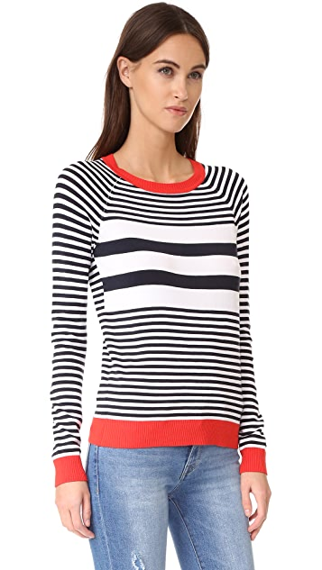 525 America Stripe Crew Neck Sweater