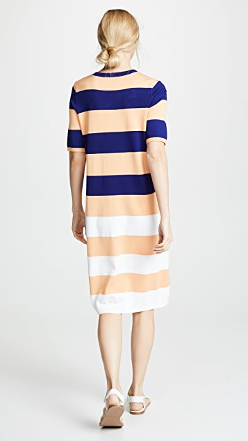 525 America Striped Midi Dress