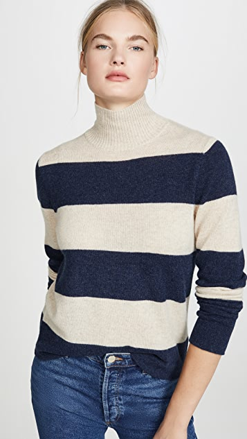 525 America Rugby Stripe Cashmere Turtleneck