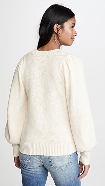 525 America Puff Sleeve Crew Sweater