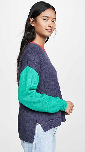 525 America Colorblock Crew Sweater
