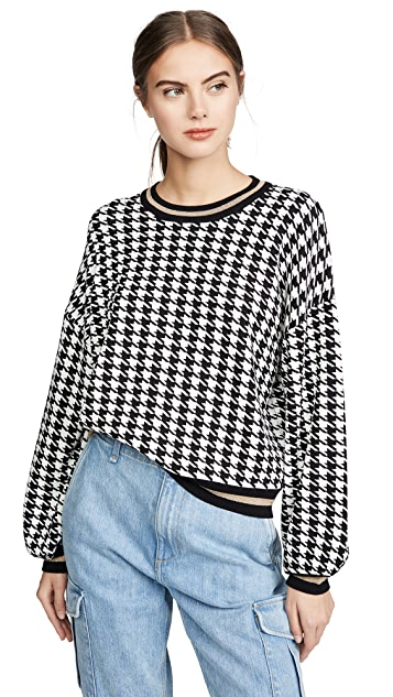 525 Houndstooth Pullover