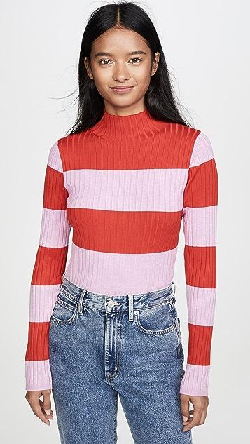 525 America Пуловер в полоску в стиле регби