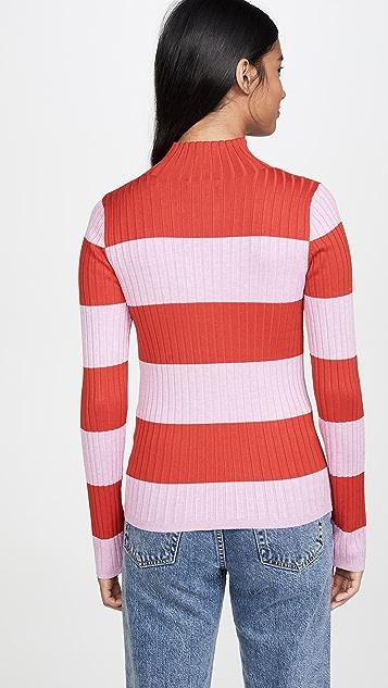 525 America 橄榄球条纹套头衫