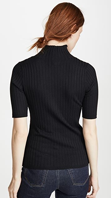 525 Ribbed Mock Neck Pullover