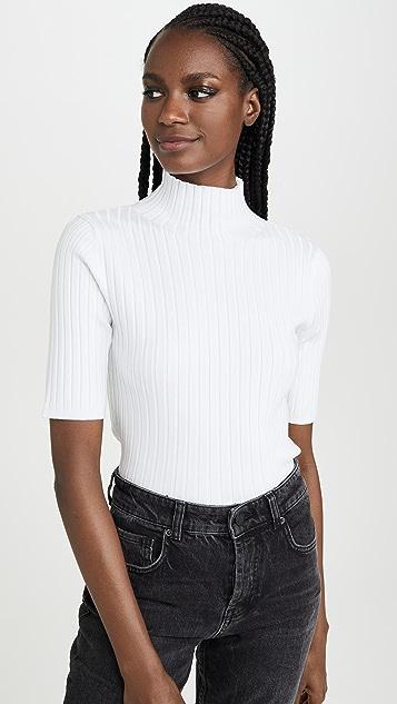 525 Пуловер с воротником под горло