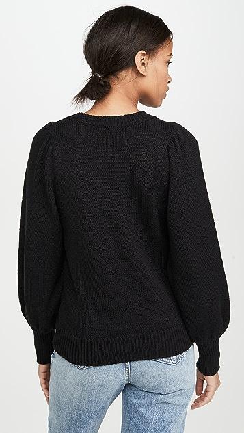 525 泡泡袖圆领套头衫