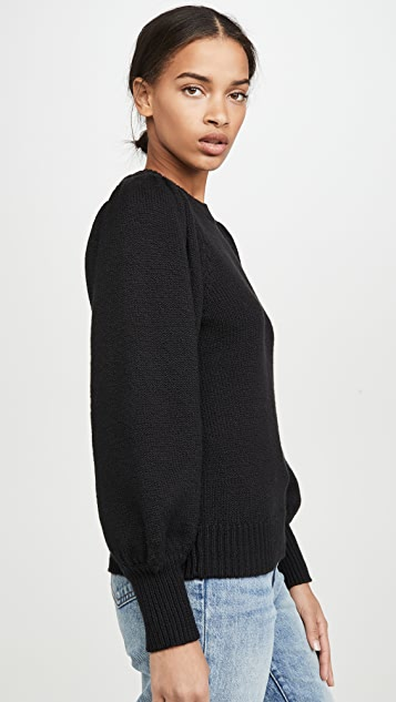 525 Puff Sleeve Crew Pullover