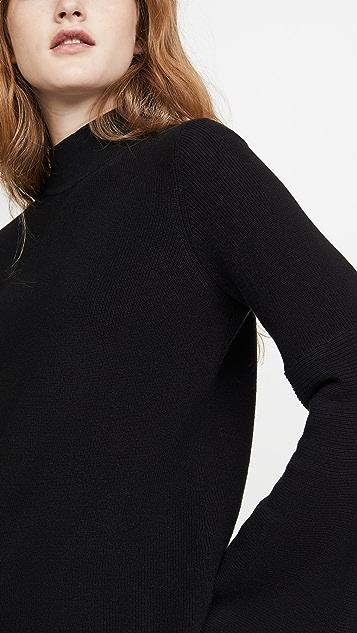 525 Mock Neck Shaker Sweater