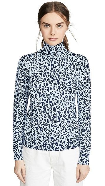 525 Leopard Turtleneck