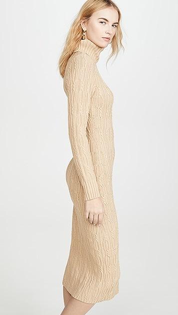 525 高领毛衣连身裙