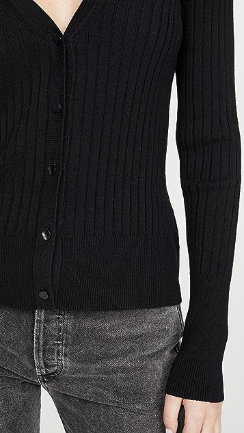 525 Rib Fitted Cardigan