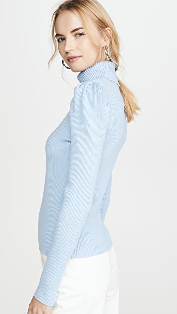 525 Пуловер с объемными рукавами
