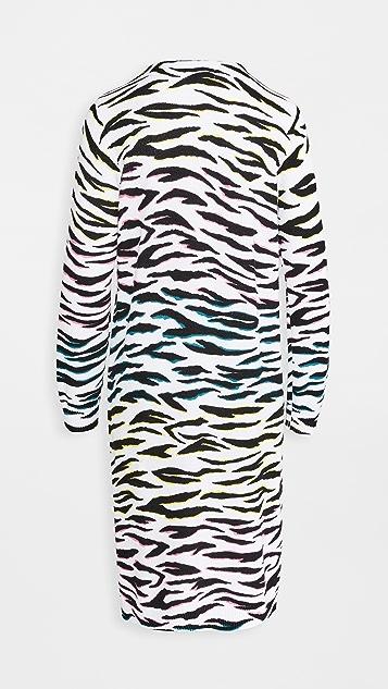 525 Long Zebra Cardigan