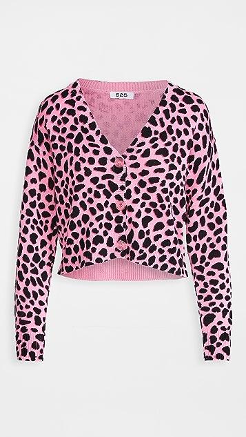 525 豹纹短款开襟衫