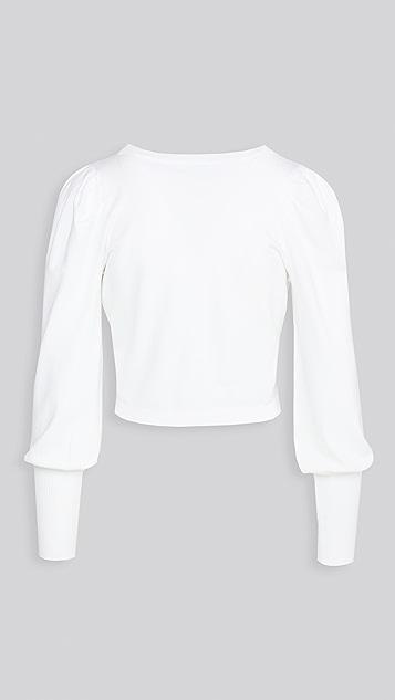 525 泡泡袖开襟衫
