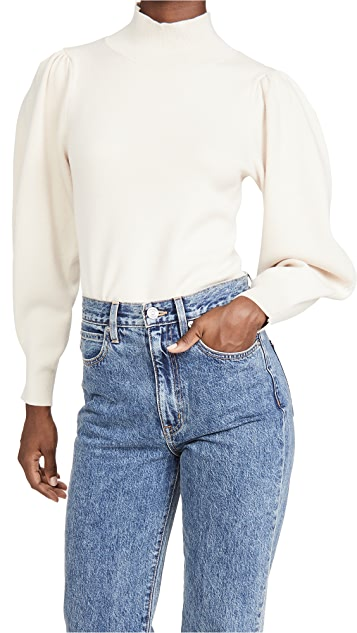 525 Solid Mock Neck Pullover