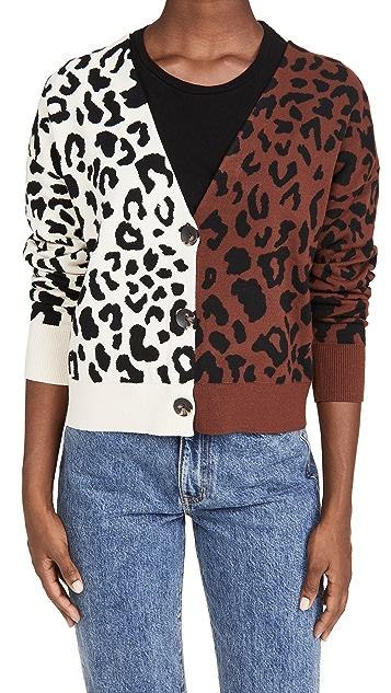 525 混合豹纹开襟衫