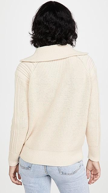 525 半长拉链套头衫