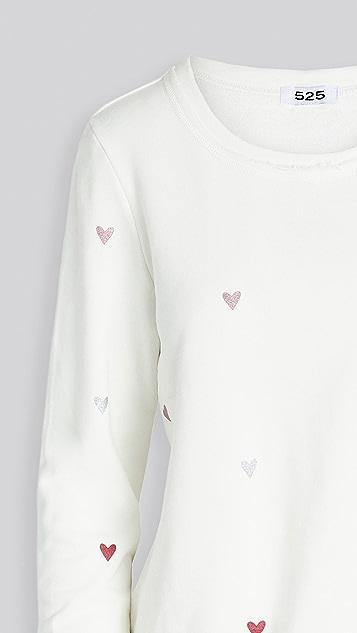 525 Hearts Pullover Sweatshirt