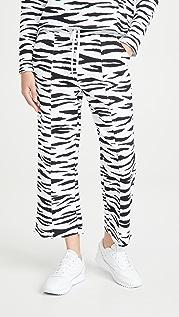 525 Zebra Cropped Sweatpants