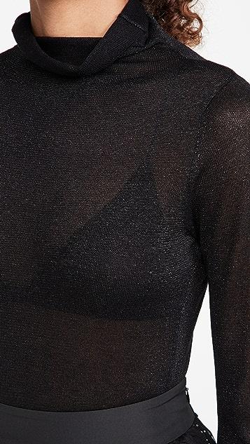 525 Metallic Turtleneck Sweater