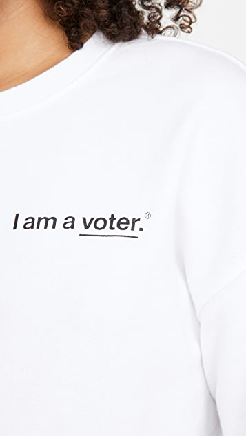 525 x I Am A Voter 运动衫