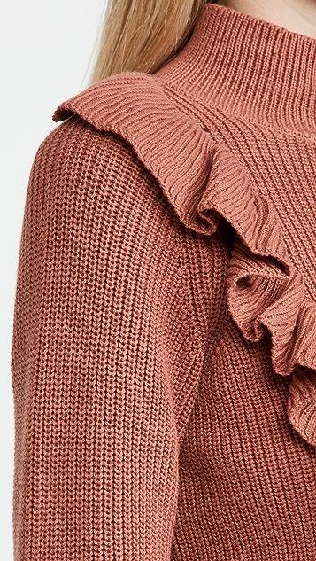 525 棉质半高领套头衫