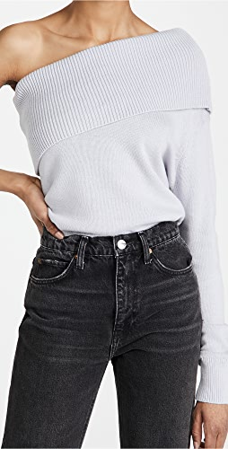 525 - 棉质单肩毛衣