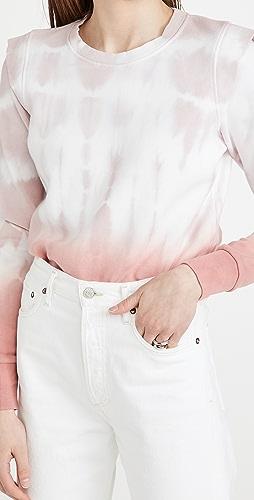 525 - 扎染法式毛圈布运动衫