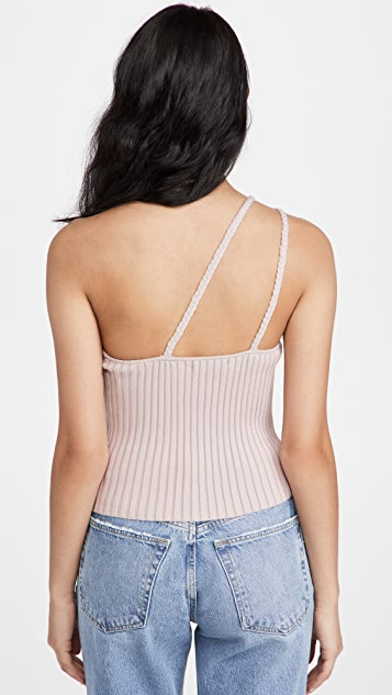 525 棉质编织单肩罗纹背心
