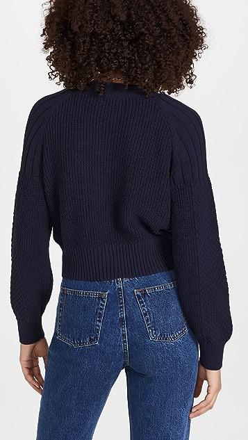 525 Cotton Mixed Stitch Cardigan