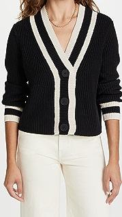 525 Cotton Varsity V Neck Cardigan