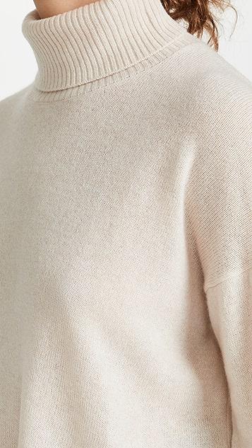 525 不对称高领开司米羊绒毛衣