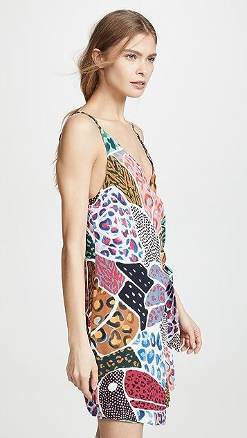 FARM Rio Платье с запахом в лоскутной технике Onca