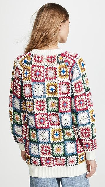FARM Rio Crochet Bomber Jacket