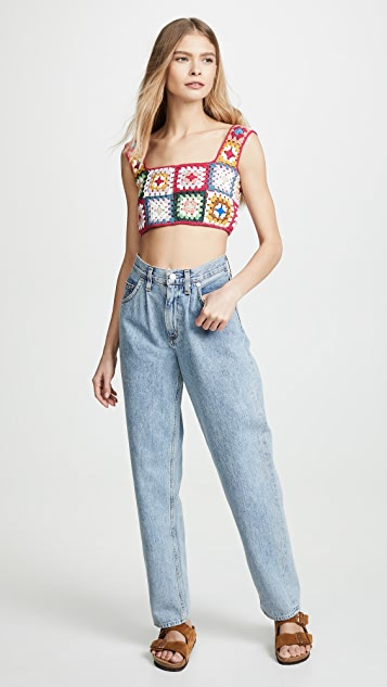FARM Rio Crochet Top