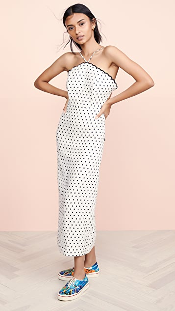 FARM Rio Onca Dot Midi Dress