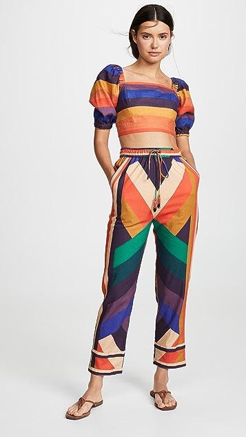 FARM Rio Amanda Stripe Pants