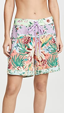 Mix Flower Print Boardshorts