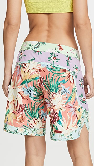 FARM Rio Mix Flower Print Boardshorts