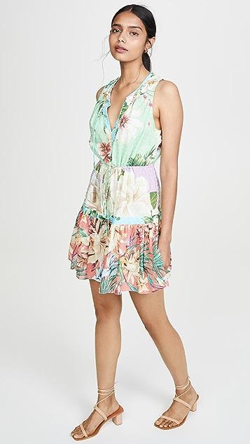 FARM Rio Мини-платье с комбинированным цветочным принтом