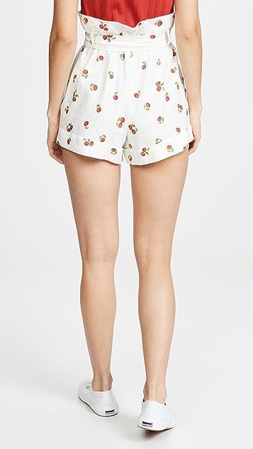 FARM Rio Mini Pitanga Paperbag Shorts