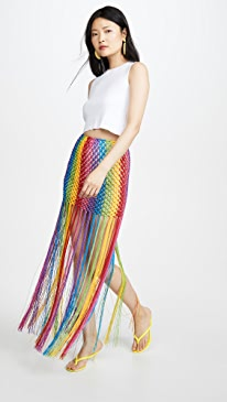 Rainbow Macrame Skirt