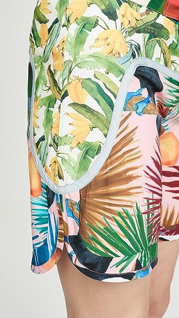FARM Rio Пляжные шорты с тропическим принтом